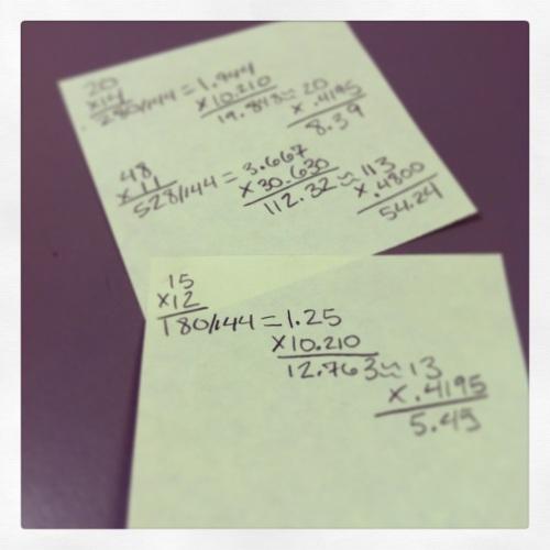 Math is hard.