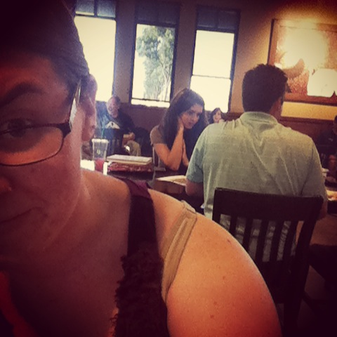 Creeping on my friend at Starbucks