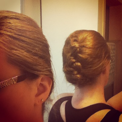 """Fancy"" updo for my photoshoot"